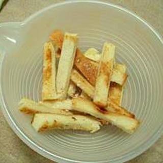 材料3つ!食パン&サラダ油deお手軽ラスク