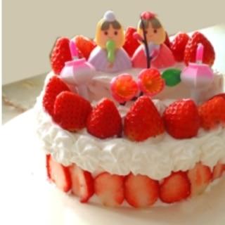 雛祭りに!雛壇風のデコレーションケーキです☆