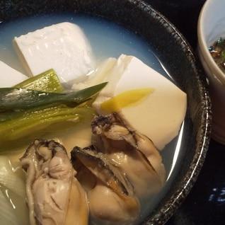 湯豆腐 ~牡蠣でいつもより贅沢に~