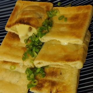 納豆チーズのキツネ焼き