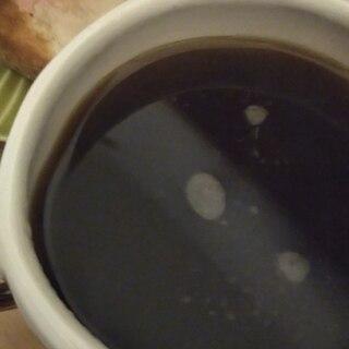 千歳飴とバターコーヒー