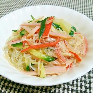 余った冷やし中華のタレで中華風春雨サラダ