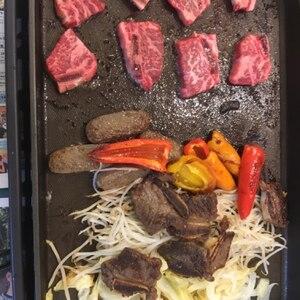 ホットプレートで焼き肉