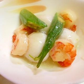 冷凍里芋とむき海老の白だし煮(餡かけ風)