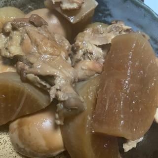 鶏肉と大根の酢醤油煮