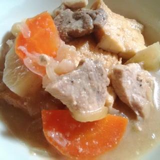 ★炊飯器DE 豚肉と厚揚げと野菜のやわらか煮★