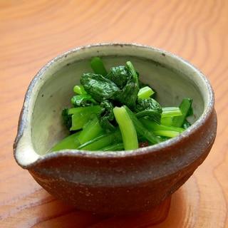 簡単おつまみ!小松菜の昆布茶和え