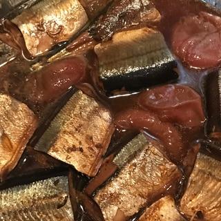 高圧の圧力鍋で10分!骨まで食べられるサンマの梅煮