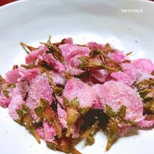 八重桜の花の塩漬け