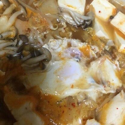 卵の半熟加減が難しかったですが(火が通り過ぎてしまいました(^^;。 ボリューム満点、ご飯も入れて食べました。おいしいレシピをありがとうございました。