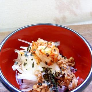 キムチ納豆冷ややっこ