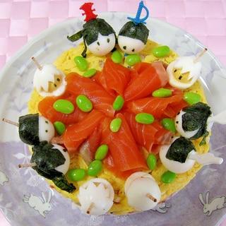 ひな祭り★ちらし寿司ケーキ♪