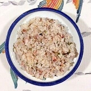 イカと水菜の炊き込みご飯