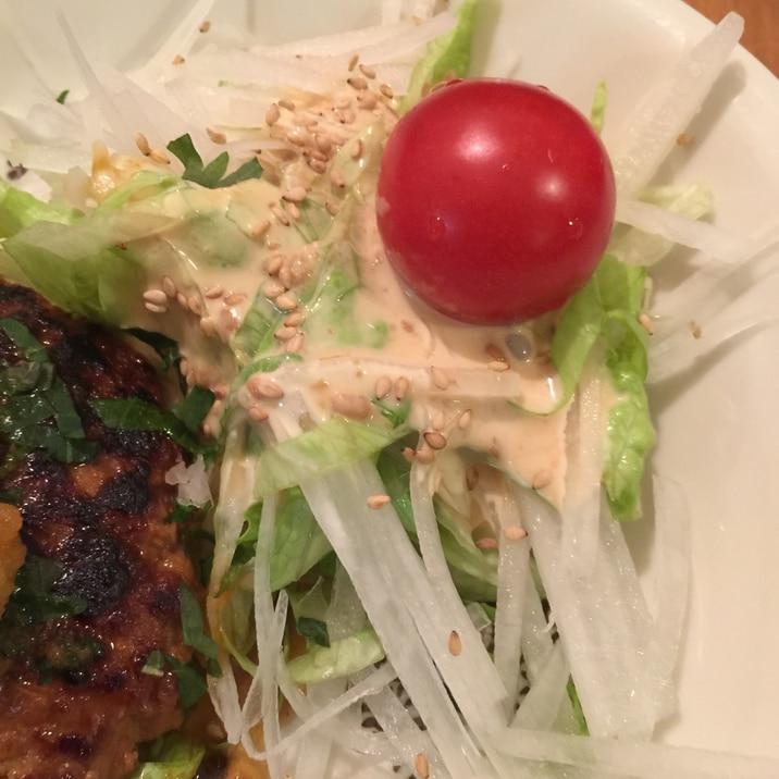 びっくりドンキー風 大根サラダ マヨ味噌がうまい!