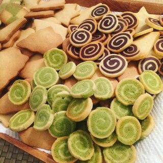 簡単可愛い!ココアと抹茶のうずまきクッキー