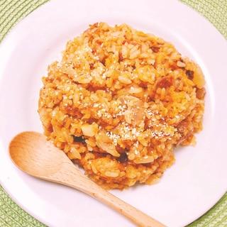 オイルサーディン炊き込みご飯でトマトピラフ風