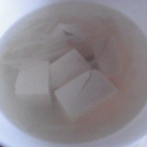 モヤシと豆腐の中華スープ