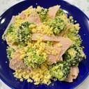カレー風味のブロッコリーとおからのサラダ