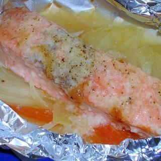 塩麹で♪鮭のホイル焼き