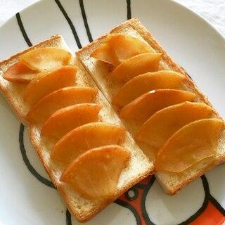 レンジとトースター♪簡単りんごシナモントースト♡