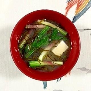 ヒトビロとふのりのお味噌汁