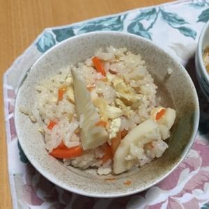 炊飯器におまかせ♪簡単たけのこご飯