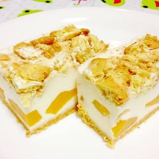 桃とクリームチーズのレアチーズタルト