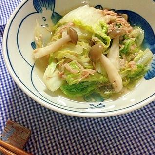 簡単☆レンジde白菜とツナ煮♪