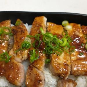 お弁当に!豚ロース厚切り肉の照り焼き
