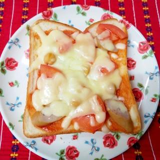 ひよこ豆とビザトースト