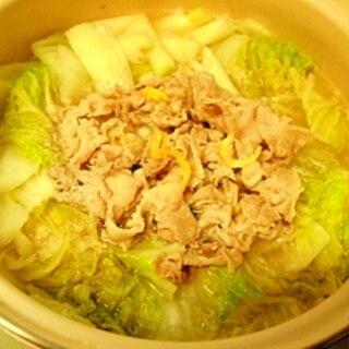 白菜と豚こまの中華風鍋