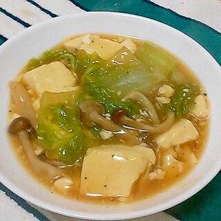 簡単!白菜としめじと豆腐のさっと煮中華あんかけ&丼