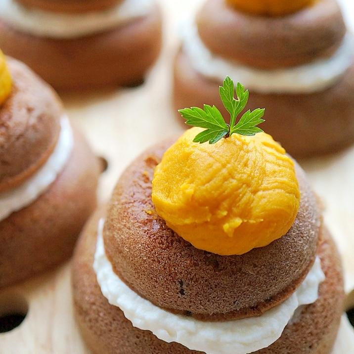 HMで♪かぼちゃサンドのおめかし焼きドーナツ☆