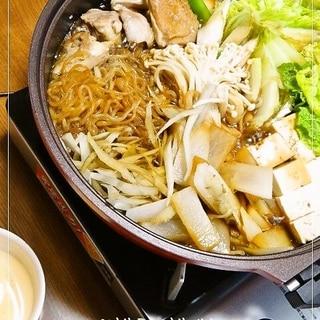 福岡の鶏すき(鶏のすき焼き)