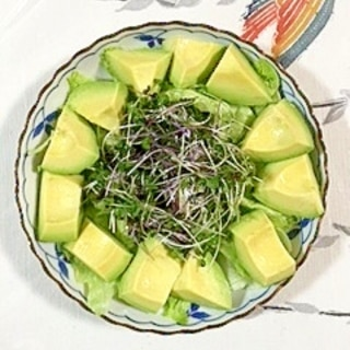 ブロッコリースプラウトとレッドキャベツのサラダ~♪