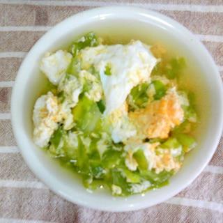 ダイエットに♪キャベツと卵のスープ