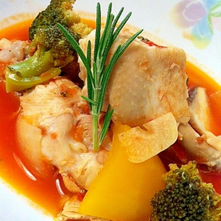 簡単!お手軽!☆鶏肉のローズマリートマト煮☆