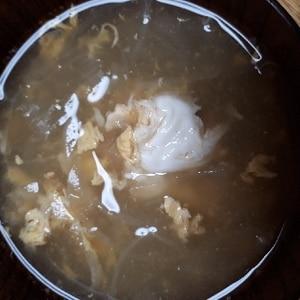 卵と玉ねぎの中華スープ