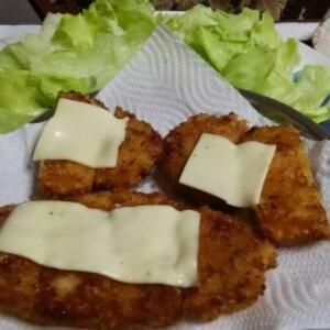 牛薄切り肉のチーズカツレツ