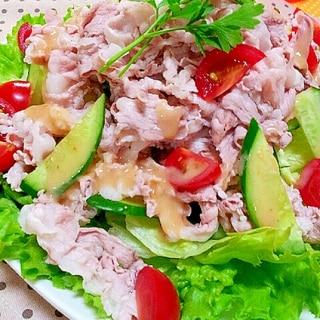 薄切り豚バラ肉で✿野菜もたっぷりな冷しゃぶ❤