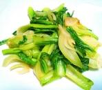 チンゲン菜のにんにく炒め