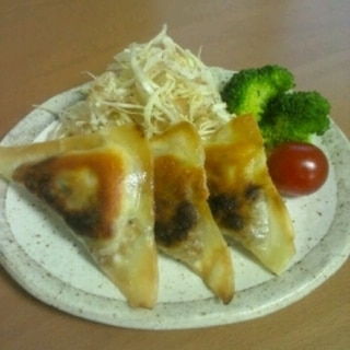 カリカリ♪納豆とチーズの焼き春巻き