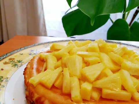 生クリーム無し!ヘルシーパイナップルチーズケーキ