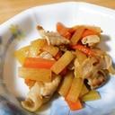 豚肉と大根と人参の炒め物