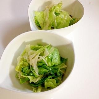 新玉ねぎとレタスのチョレギサラダ