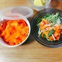 簡単!作り置き☆にんじんのラペ & 水菜のサラダ