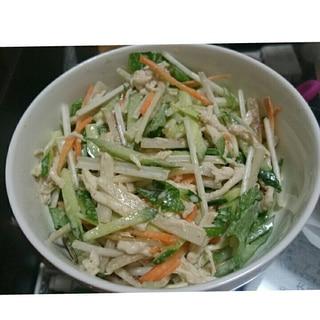 簡単、時短!ごぼうと水菜のサラダ