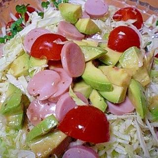 「アボカドとキャベツのじゃーサラダ」    ♪♪