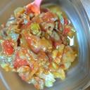 チリコンカン風?牛肉とキャベツと納豆のトマト炒め