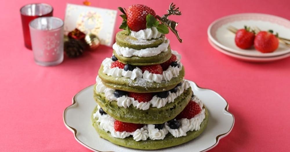 「ホットケーキミックスで簡単!クリスマスツリーケーキ」レシピ